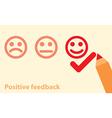 positive feedback concept vector image vector image