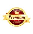 Premium High Quality Golden Badge vector image vector image