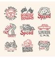 Racing Emblems Set vector image