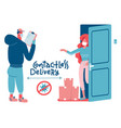 safe delivery remote contactless transfer vector image