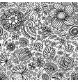 seamless flower pattern hand drawn vector image