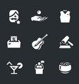 set charity event icons vector image