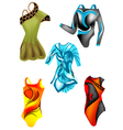 set of leotards vector image vector image