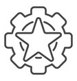 star cog wheel icon outline style vector image