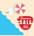 summer sale with beach item vector image vector image