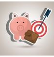 target money piggy cash vector image vector image