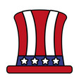 top hat with american flag vector image vector image