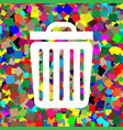 trash sign white icon on vector image