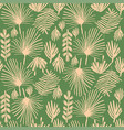 tropical greenery flower duotone seamless pattern vector image vector image