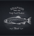 trout hand drawn icon vector image vector image