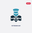two color veterans day icon from united states of vector image