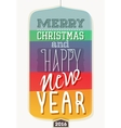 Vintage new year vector image