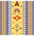 vintage tribal ethnic seamless pattern vector image vector image