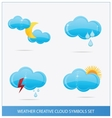weather blue clouds symbols set vector image vector image