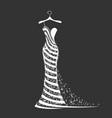 wedding dress silhouette vector image vector image