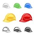 hard hat safety helmet set building under vector image