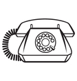 Old Phone vector image