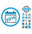 2016 Calendar Flat Icon with Bonus vector image vector image