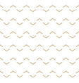abstract white and gold wavy lines pattern vector image vector image