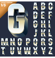 alphabet of simple 3d letters vector image
