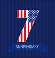 anniversary 7 usa vector image vector image
