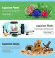 aquarium horizontal banners vector image vector image