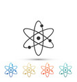 atom icon isolated on white background vector image