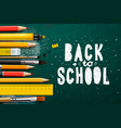 back to school banner with school items vector image