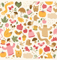 beautiful autumn seamless pattern vector image