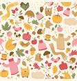 beautiful autumn seamless pattern vector image vector image