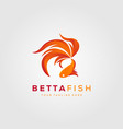 betta fish fire modern logo design vector image