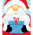 Big Santa With Gift vector image