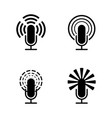 black microphone set vector image vector image