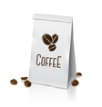 Blank realistic paper packaging coffee bag vector image vector image