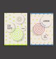 brochure design template circles vector image