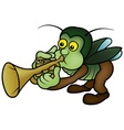 bug and trumpet vector image