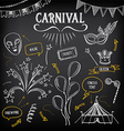 Carnival icons sketch design vector image vector image