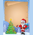christmas topic parchment 9 vector image vector image
