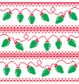 christmas tree lights seamless pattern vector image vector image