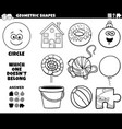circle shape educational game for kids coloring vector image vector image