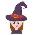 clipart a cute little witch set isolated white vector image vector image