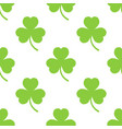 clover pattern on a white background vector image vector image