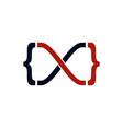 code infinity logo icon design vector image