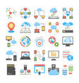 data storage and web hosting flat icons vector image vector image