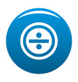 divide icon blue vector image