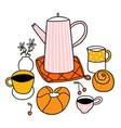 doodle breakfast vector image