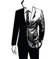 drawing of elegant young fashion man in tuxedo vector image vector image