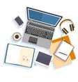 Flat design mockup per office workspace vector image vector image