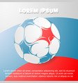 football theme with russian flag on backdrop vector image vector image