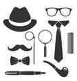 gentlemans set vector image